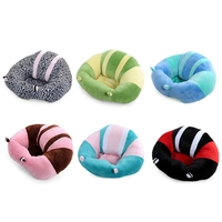 Cute Children Portable Soft Sofa Floor Seat Cushion Plush Toy Birthday Gift Skid Proof Bottom Baby Plush/Nano Doll