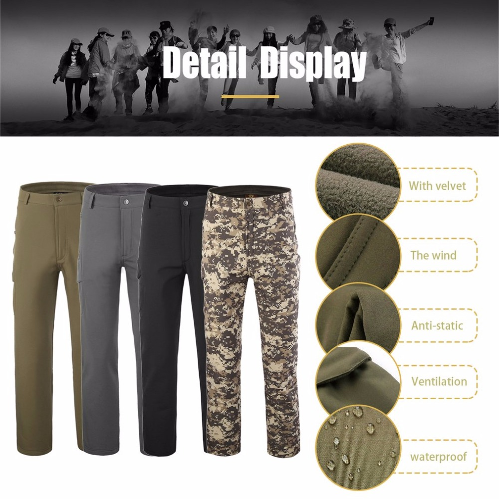 Stretch Hiking Pants Men Outdoor Sports  Hiking Trekking Camping Fishing Cargo Waterproof Men Trousers  Military Tactical Pants