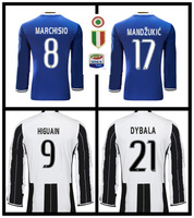 Fr 890 SALES 2017 BEST QUALITY LONG SLEEVE ADULT JUVENTUSES SOCCER JERSEY 16 17 HOME AWAY