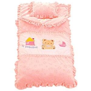 Image 4 - Jesienno zimowy komplet pościeli dziecięcej nowonarodzona pościel do łóżeczka bawełniana zagęścić kołdra dziecięca dziecięca śpiwór dla dziecka w wieku 0 4 lat