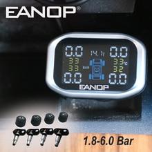 EANOP C200 TPMS Auto 1.8 display LCD Monitor della Pressione Dei Pneumatici Senza Fili Sensori Pneumatici 1.8 6.0Bar 26 87PSI