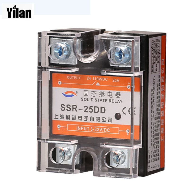 25DD SSR input 3~32VDC load 5~110VDC DC single phase DC solid state relay normally open single phase solid state relay ssr mgr 1 d48120 120a control dc ac 24 480v