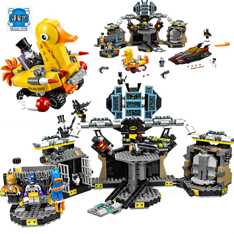 New Arrival LEPIN 07052 Batman Movie Batcave Break-in Man-Bat Bricks Sets Building Block Toys Compatible Lepin Batman 70909 lepin 07052 1047pcs super heroes batman batcave break in diy model building blocks gifts batgirls movie toys compatible 70909