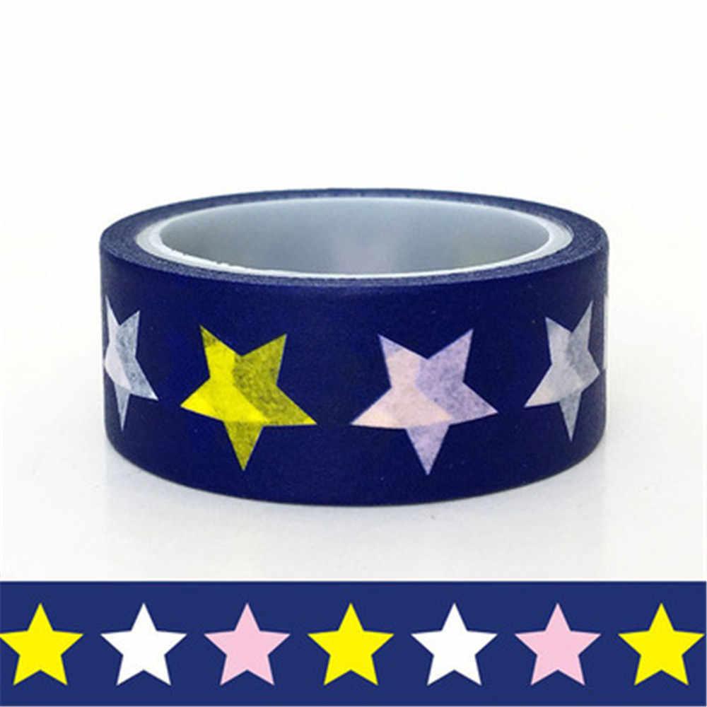1 piezas Festival tema estrella sol flor patrón de geometría cintas de enmascarar de Washi cinta Diy Scrapbooking etiqueta Escuela de papelería