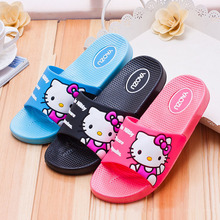 Hello Kitty  Indoor household slippers Male and female style There are three colors of blue, black, pink, and you can choose