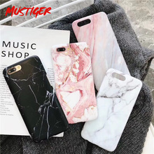 MUSTIGER Matte Marble Veins โทรศัพท์กรณีสำหรับ iPhone X XS XR 7 8 Plus สำหรับ iPhone 6 6 s XS Max Soft Silicon TPU Cover(China)