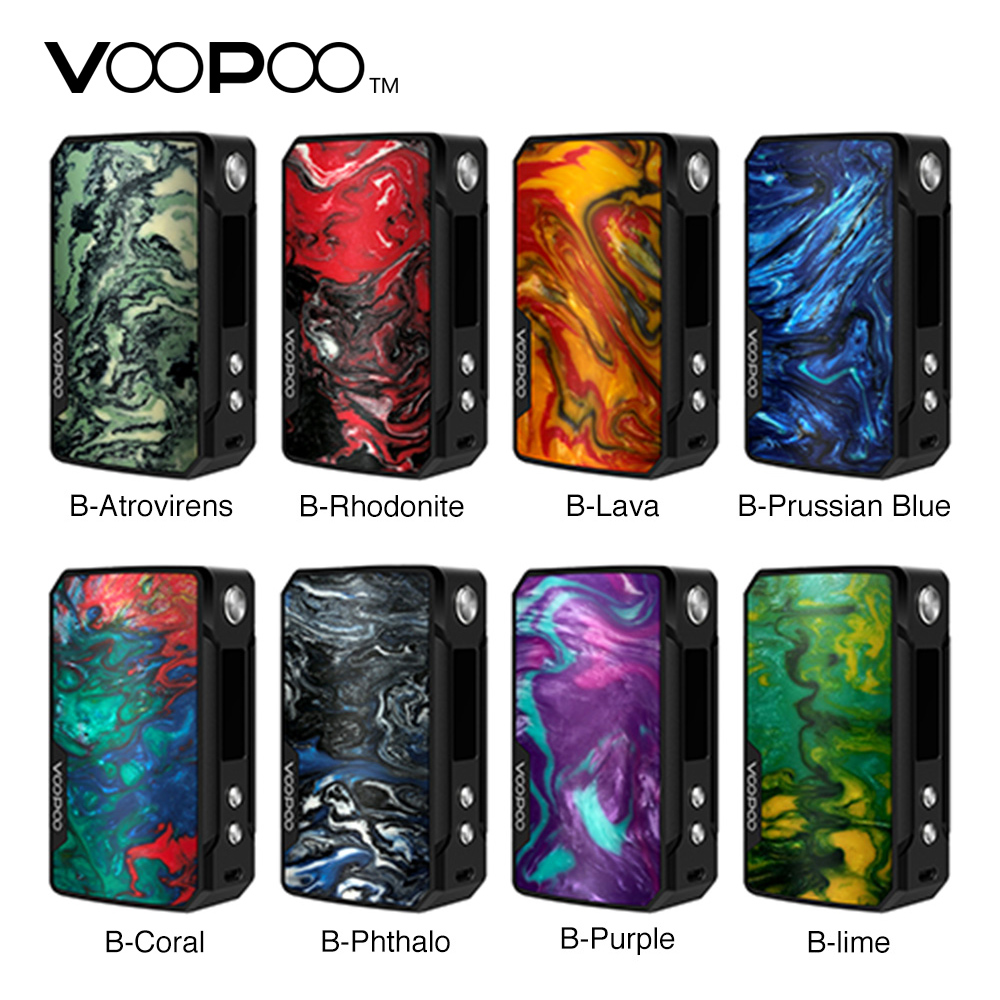 100% Original VOOPOO Drag Mini 117W TC Box MOD 4400mAh Built-in Battery FIT Chipse117W Out Put Upgraded Firmware Ecig Vape Mod