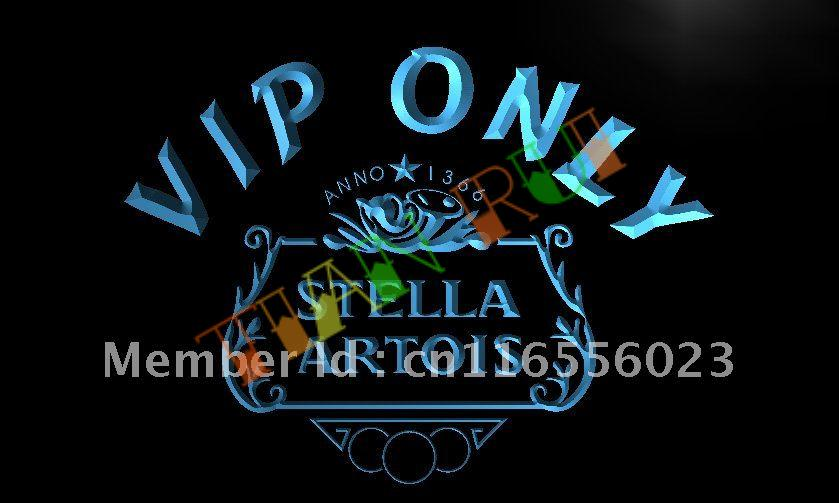 La432 Vip Only Stella Artois Beer Led Neon Light Sign In Plaques