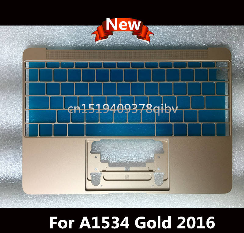 Brand New Gold Topcase for Macbook Core M 12 A1534 2015 2016 Year US layout Top Case No Keyboard portable 8 pin air fan