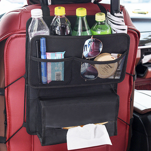 Oxford Car Seat Back Bag Organizer Backseat Storage Bag Hang Carrying Pouch Storage Box for Tissue Bottle Cup Glass Snack etc.