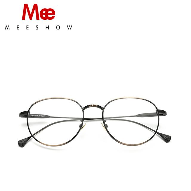 2017 de Alta Qualidade Reto homens Óculos ópticos mulheres Óculos redondos, titanium liga oprical quadro, lente de montagem livre