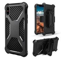 שנאי היברידי Kickstand מקרה עבור IPhone X 8 7 6 6 S סמסונג גלקסי S8 פלוס הערה 8 Heavy Duty כיסוי מקרה עם מעמד קליפ בחזרה