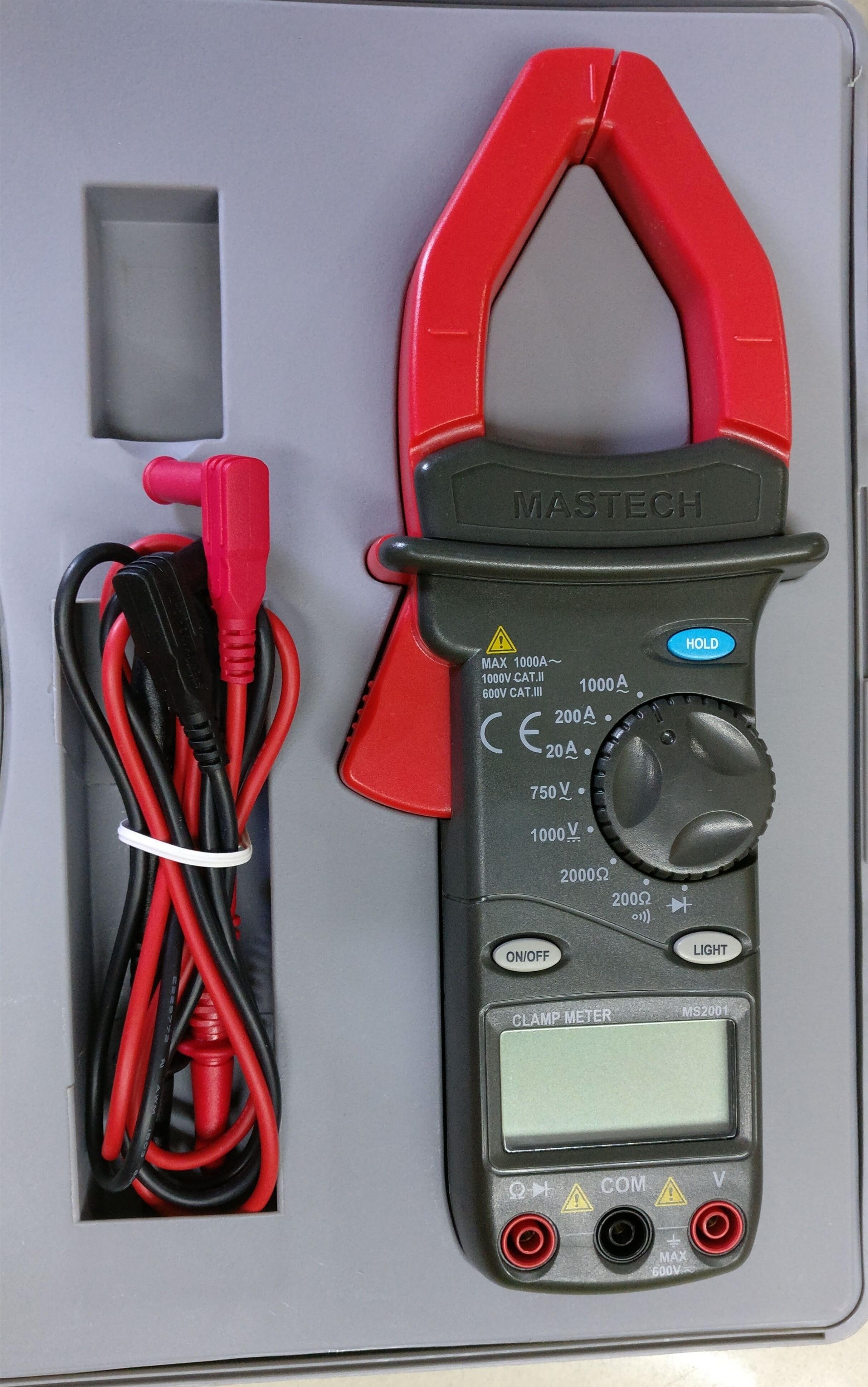 MASTECH AC/DC DIGITAL CLAMP Multimeter measure Current Voltage Resistance Electronic Tester Meter MS2001C mastech m266 digital ac clamp meter ac dc voltage ac current tester