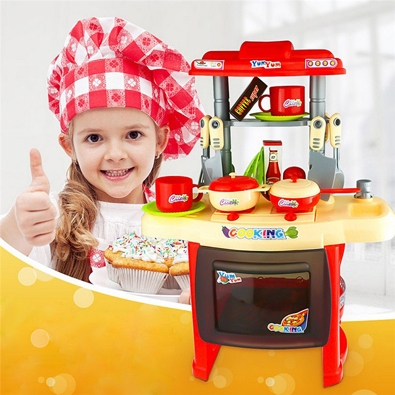 Popular cooking toy set buy cheap cooking toy set lots for Kitchen set games