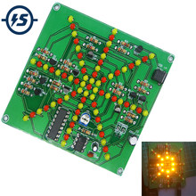 Kit de bricolage électronique Kits de lumière Flash 73 LEDs rouge jaune double couleur clignotant soudure pratique carte PCB Circuit formation Suite(China)