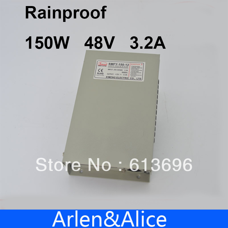 150W 48V 3.2A Rainproof outdoor Single Output Switching power supply smps AC TO DC for LED
