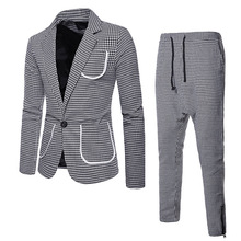 Autumn and Winter Mens Wear  Large Body Single Button Lapel Suit Suits with Pants