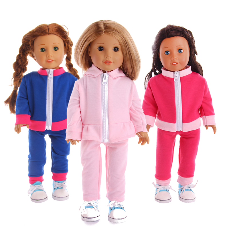 3 Cute Sportswear, Suitable For 18inch American Dolls, Suitable For 43cm Dolls, Giving Children The Best Birthday Gift