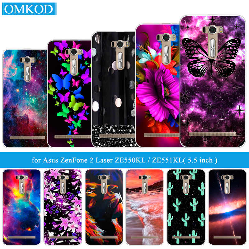 for Asus Zenfone 2 Laser ZE550KL ZE551KL 5.5 inch Soft Clear Coque Silicon Back Cover for ASUS_Z00LD Butterfly Phone Cases