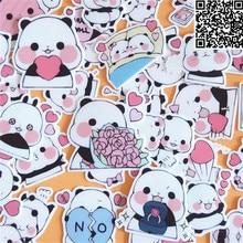40 Pcs Cartoon panda Sticker for Luggage Skateboard Phone Laptop Moto Bicycle Wall Guitar Eason Stickers