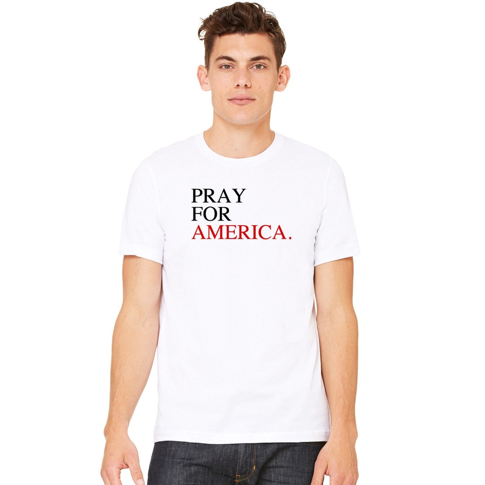 2018 Summer Fashion Hot Misky & Stone Pray For America World Peace United As One T-Shirt Tee S-3xl T shirt
