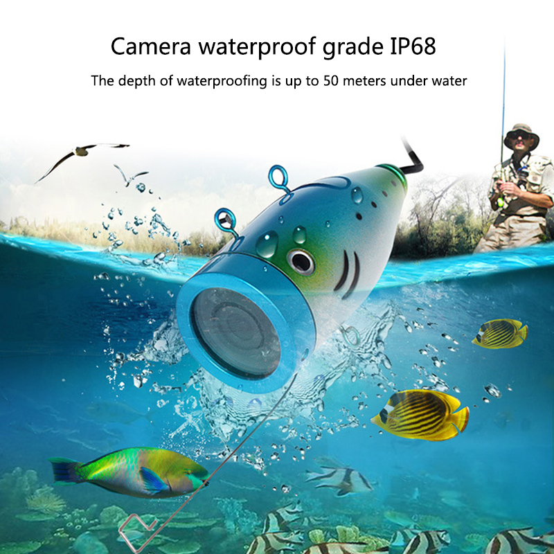 Auto 9 Inch Marine Gps Waterproof IP68 50 Meters High Definition 1000 Line Infrared White Light Fishing Fish Detector Display 15