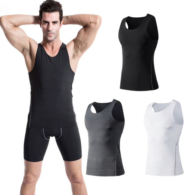 2016 Hot Comfortable Men Sport Training Slim Body Vest Quick Drying Perspiration Wicking Basketball Running Vest Clothes