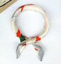 e124e771f9f Fox Scarf Satin Silk Small Bandana Women Men Scarves Square Summer Bag Hat  Accessories Headband Hair