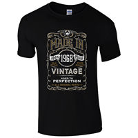 Made In 1968 T Shirt Born 49th Year Birthday Age Present Vintage Funny Mens Gift 100