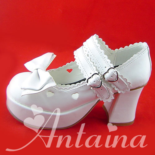 Princess sweet lolita shose Lolilloliyoyo antaina custom princess strap high-heeled shoes heart cutout shoes 9235 chromophous