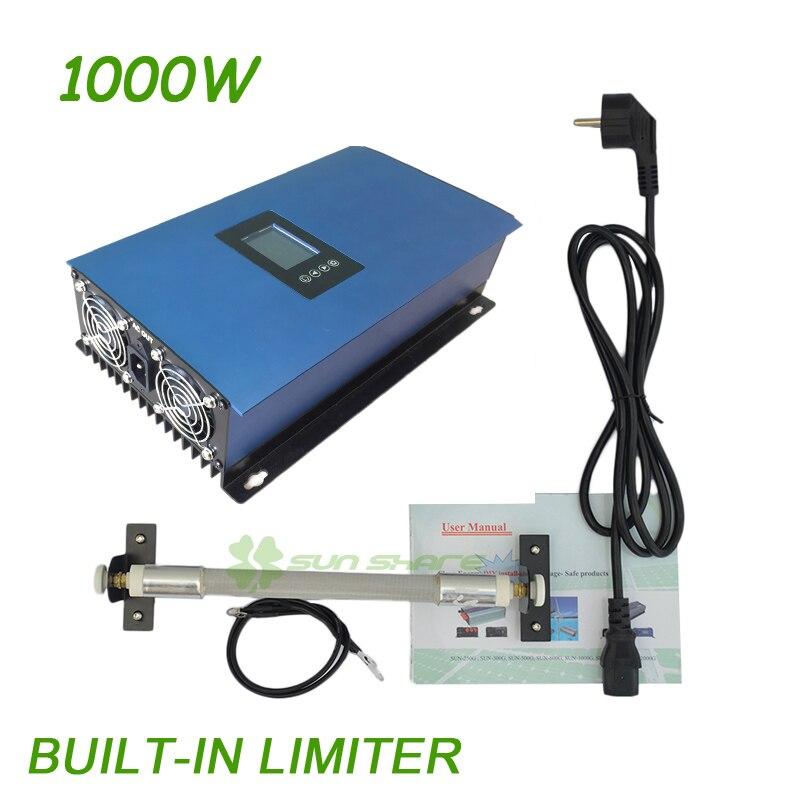 1000W MPPT Wind Grid Tie Inverter built-in Limiter+ dump load resistor ,input:AC 22-65V/45-90V,output AC110V/220v auto selected mppt 2000w grid tie inverter with limiter free shipping dc45 90v input ac output with battery discharge function