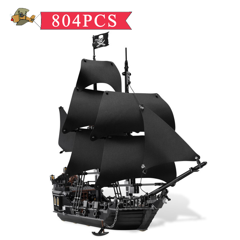Model Building Blocks Toy Pirates of the Caribbean Black Pearl Dead Ship Assembled set DIY Classic Children Building Bricks Toys