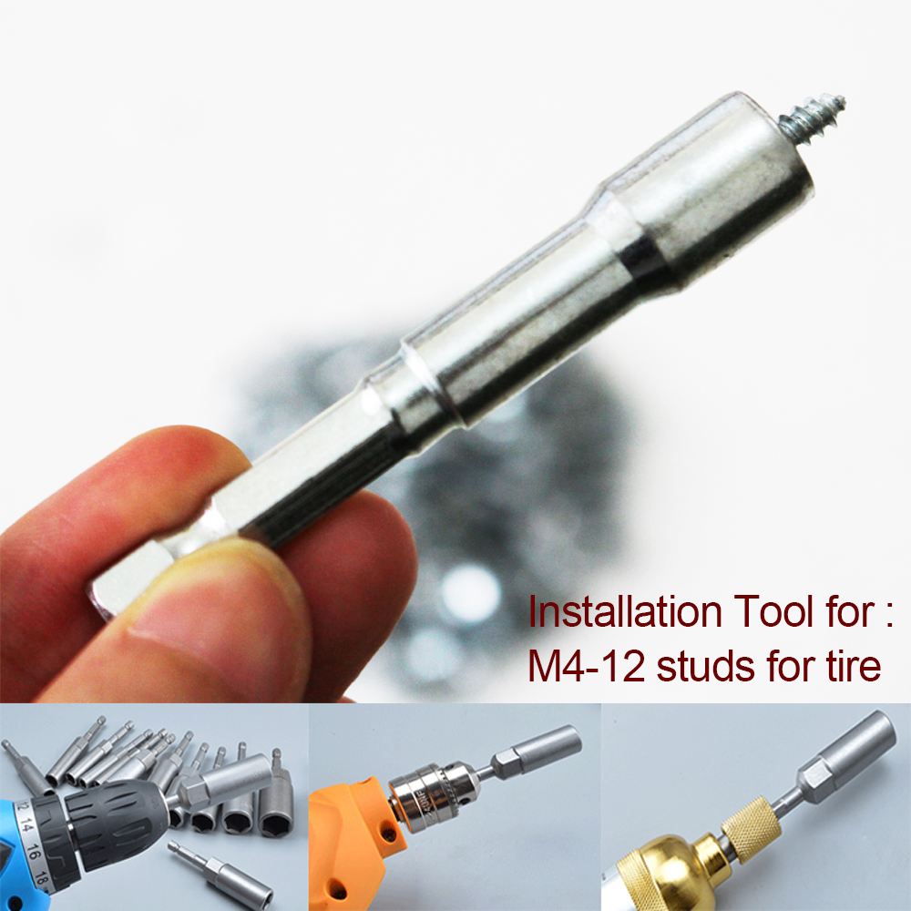 M4 Tires Studs Install Tools Screw Snow Spikes Install
