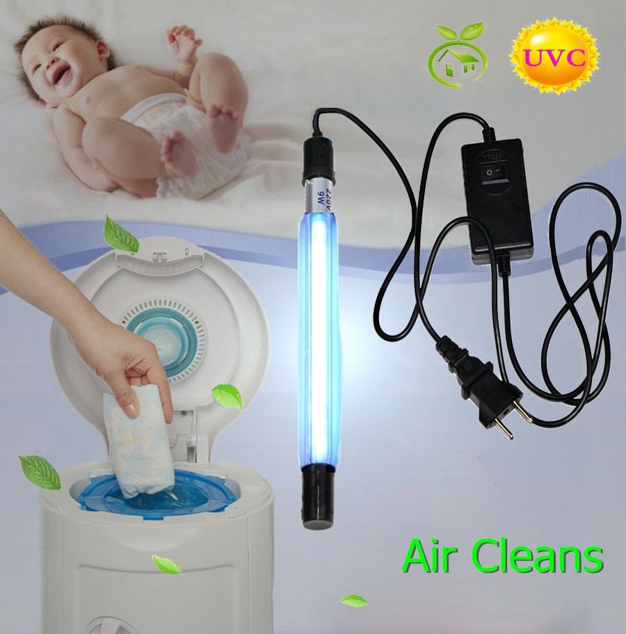 UV Instant Odor Remover Deodorizer Lamp Waterproof For Refrigerator Diaper Pail Trash Garbage Can Sewer Freshener 110V/220V