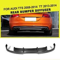 Углеродное волокно/углеродное волокно автомобиль FRP заднего бампера Диффузор для губ Audi TTS бампер 2008 2014 TT 2013 2014 бампера спойлер