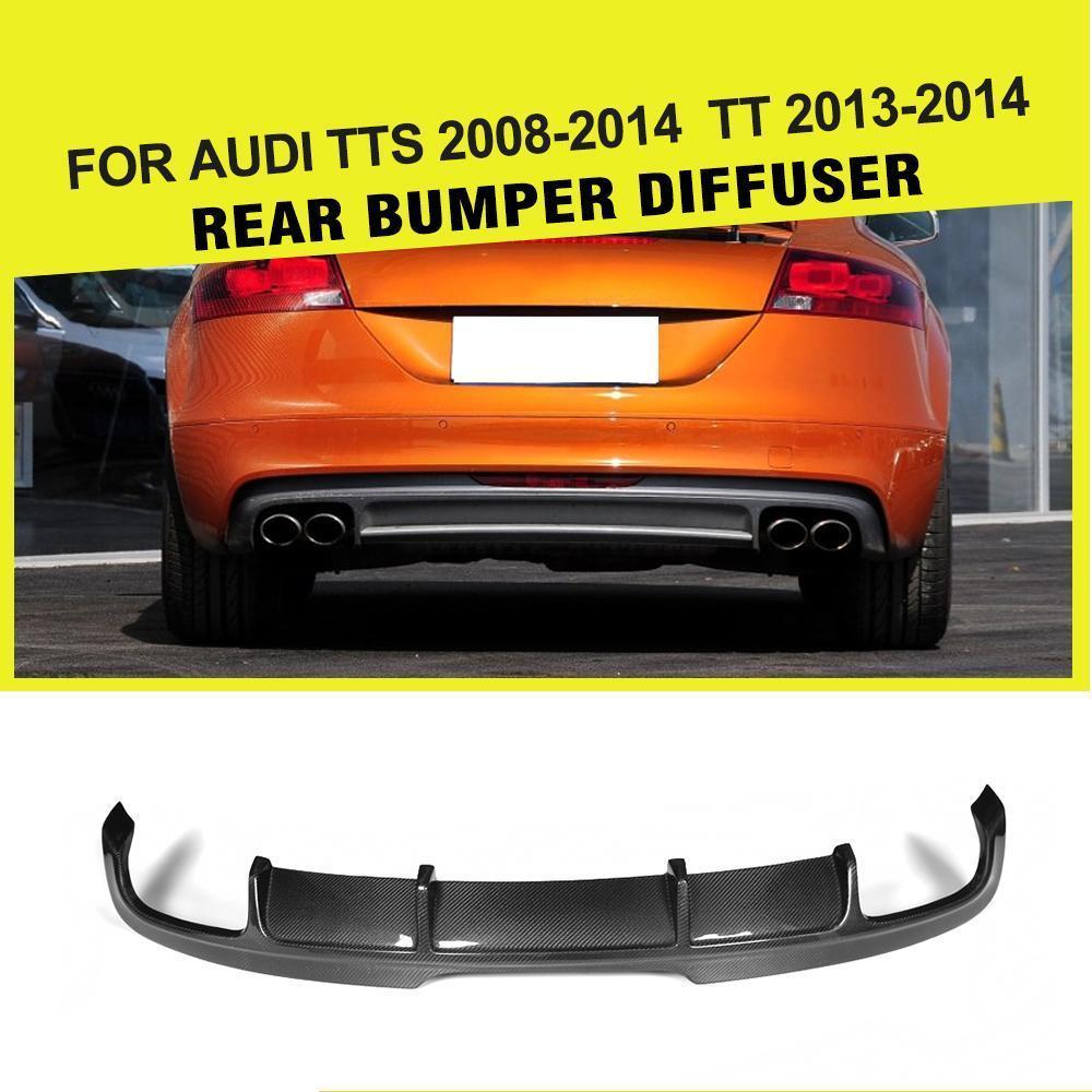 En Fiber De carbone/FRP Auto Voiture Pare-chocs Arrière Diffuseur Lip pour Audi TTS Pare-chocs 2008-2014 TT 2013 2014 pare-chocs Garde