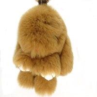 8 컬러 14 센치메터 응원 진짜 토끼 모피 pumpon 무성한 토끼 토끼 키 체인 맞춤 핸드백