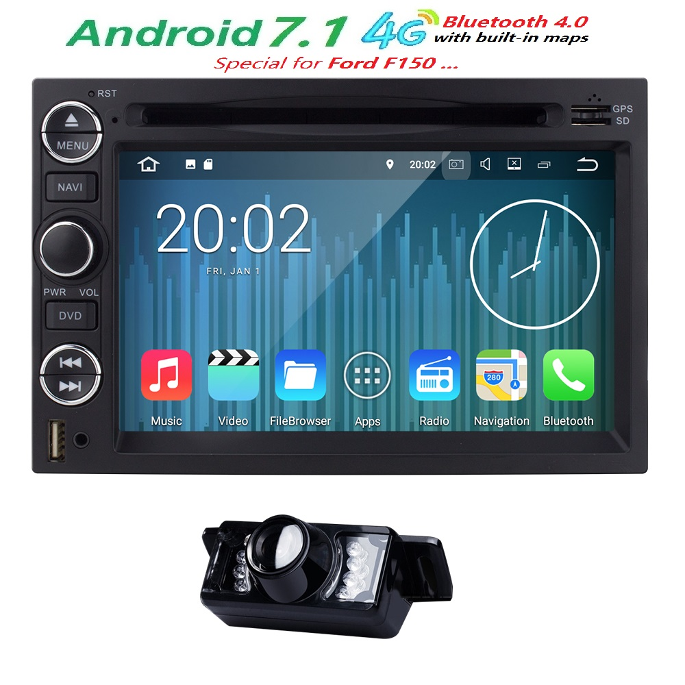 2gram quadcore 1024 600 android7 1 car dvd player radio gps for ford mustang