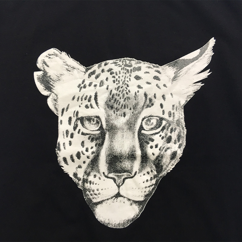 Zwart Luipaard gezicht T-shirt Kid jongens cool kinderen T-shirt - Kinderkleding - Foto 4