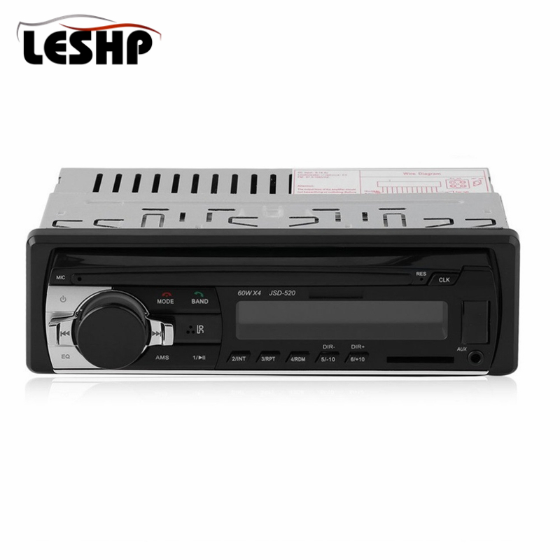 JSD-520 Car Radio Stereo Bluetooth Music Player Phone MP3 Remote Control 12V Car Audio Vehicle Music Device 1Din Car Radio