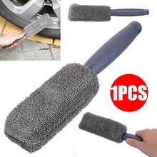 Новое поступление, 1 шт., щетка для шин из сверхтонкого волокна, длинная ручка, микрофибра, автомобильное колесо, обод для шины, щетка для мытья, инструмент для чистки
