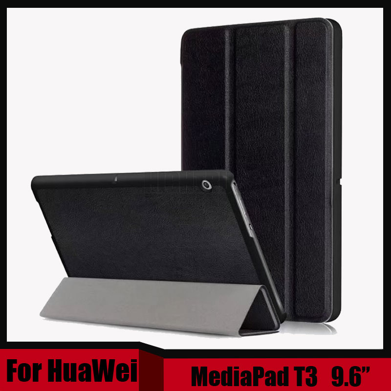 3In1 Slim Flip PU Leather Case For Huawei Mediapad T3 10 AGS-L09 AGS-L03 9.6 Inch Tablet Cover For Honor Play Pad 2 9.6 + Gift
