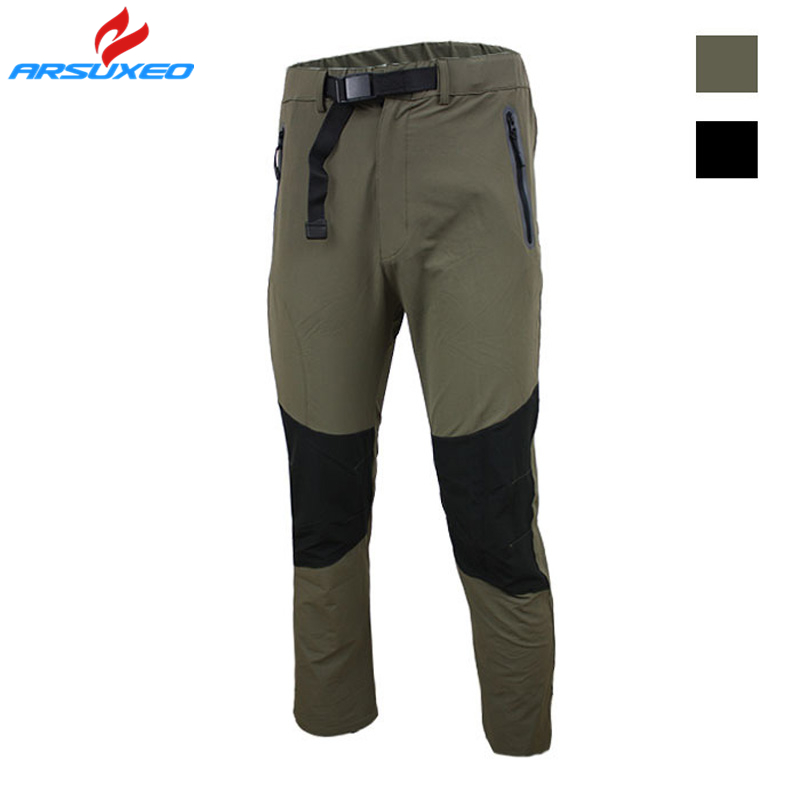 Ebuy360 Arsuxeo 2016 Cotton Male Sports Trousers Mid Waist Breathable Quick Dry Outdoor Fitness Leisure Pants Cycling Shorts