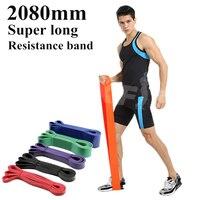 Супер длинные резинки из натурального латекса, спортивный резиновый набор, гимнастический эспандер, Кроссфит, подтягивающий, укрепляющий м...