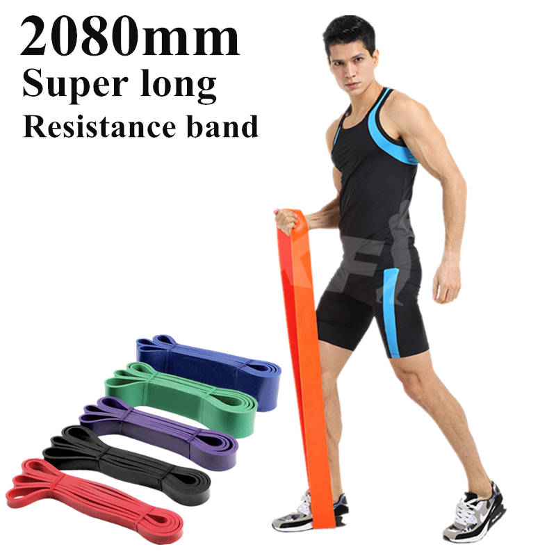 Super long Resistance Bands Natural Latex Athletic Rubber set Gym Expander Crossfit Power Lifting Pull Up Strengthen Muscle