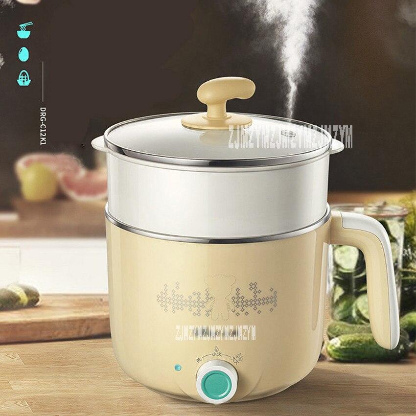 цена на DRG-C12K1 multi-function electric hot pot electric skillet stainless steel multi cooker houshold mini cooker Portable hot pot
