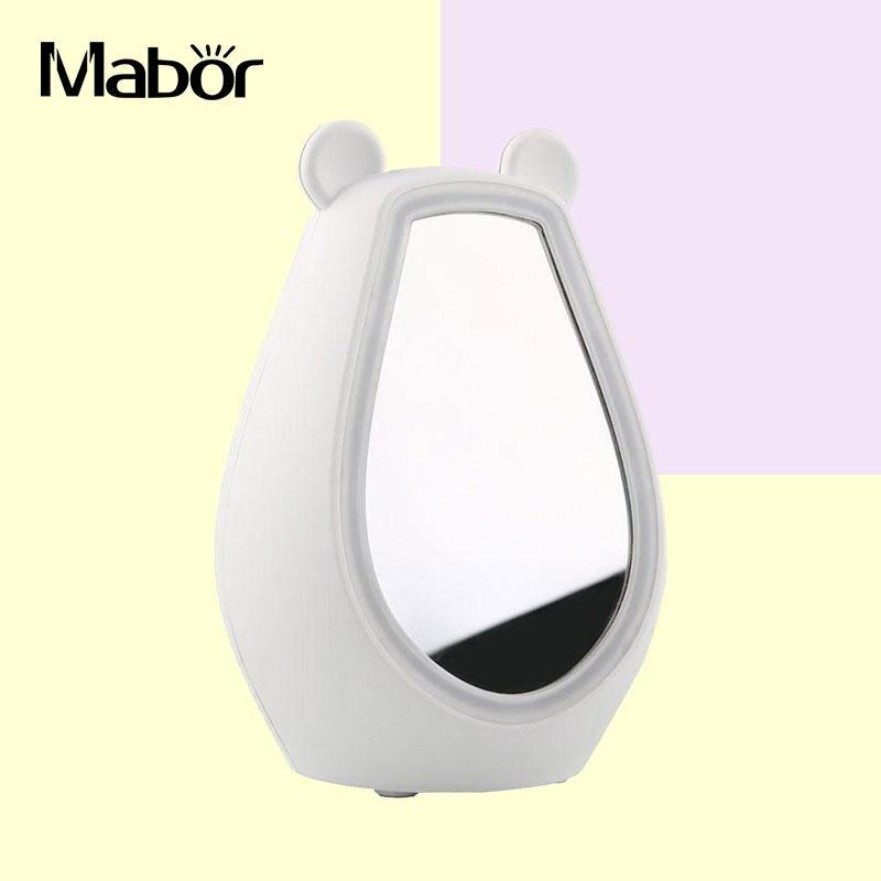Mirror LED Alarm Clock Bluetooth Stereo Speaker Fill Light Night Light