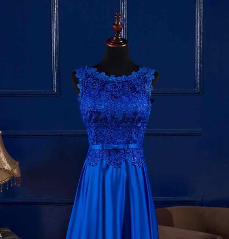 03bc218e0b vestido longo de festa para casamento 2019 new lace A Line royal blue  bridesmaid dresses long plus size vestido madrinha