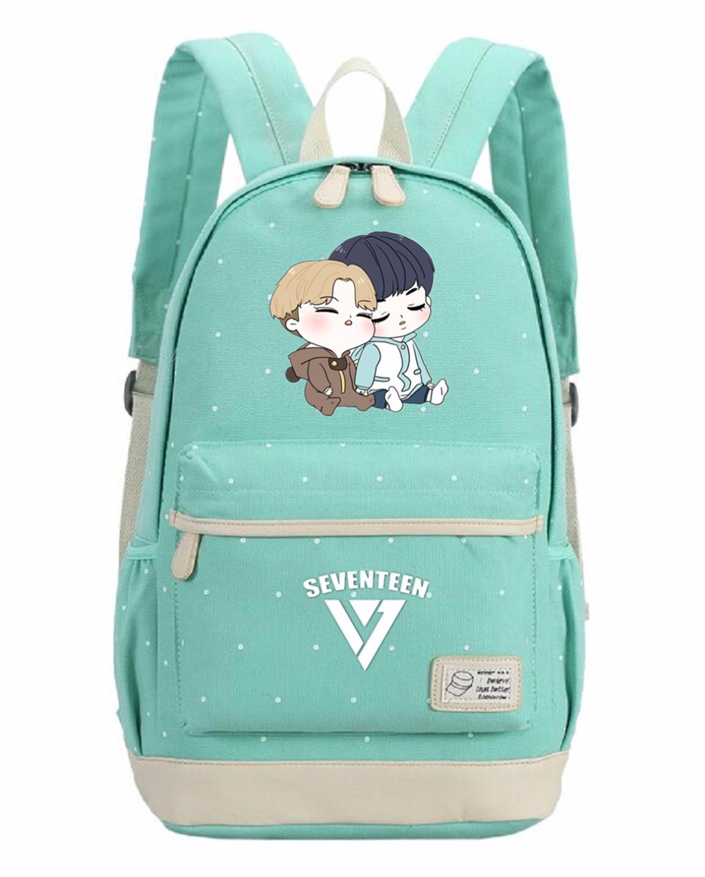 Komikoy Seventeen 17 Canvas Laptop Bag Flower Rucksacks Backpack Student School Travel Bags Daypack Removing Obstruction Men's Bags
