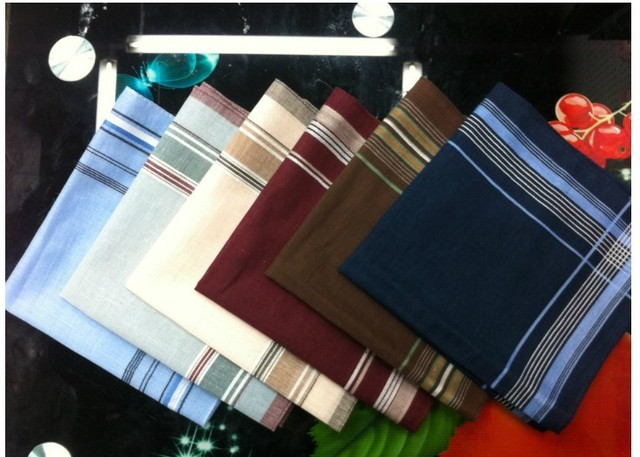 5Pcs/Lot 40*40cm Thin 100% Cotton Light Color Male Female Handkerchief Men Women's Wash Clean HandsTowels Drop Shipping